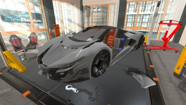 Build and fix your GT concept sports supercar in this 3D car mechanic simulator!